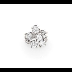 Cocktail Hour CZ Round Cluster Ring Size 8